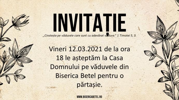 Invitatie vaduve